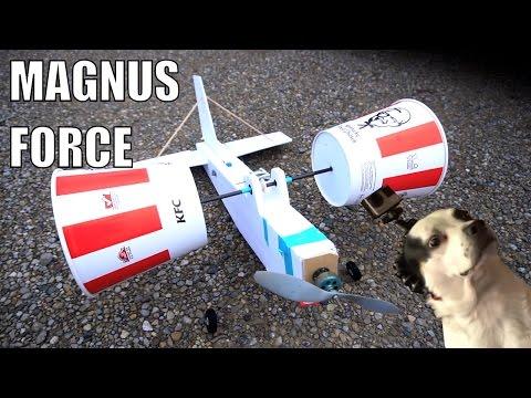 RC KFC bucket aeroplane (magnus effect)