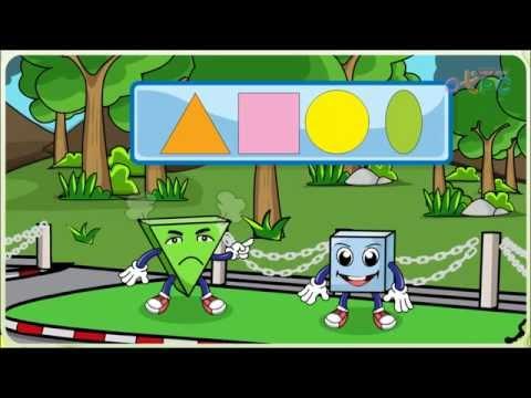 รูปสี่เหลี่ยม รูปสามเหลี่ยม - สื่อการเรียนการสอน คณิตศาสตร์ ป.1