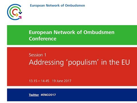 European Network of Ombudsmen Conference 2017 - Opening of conference and Session 1