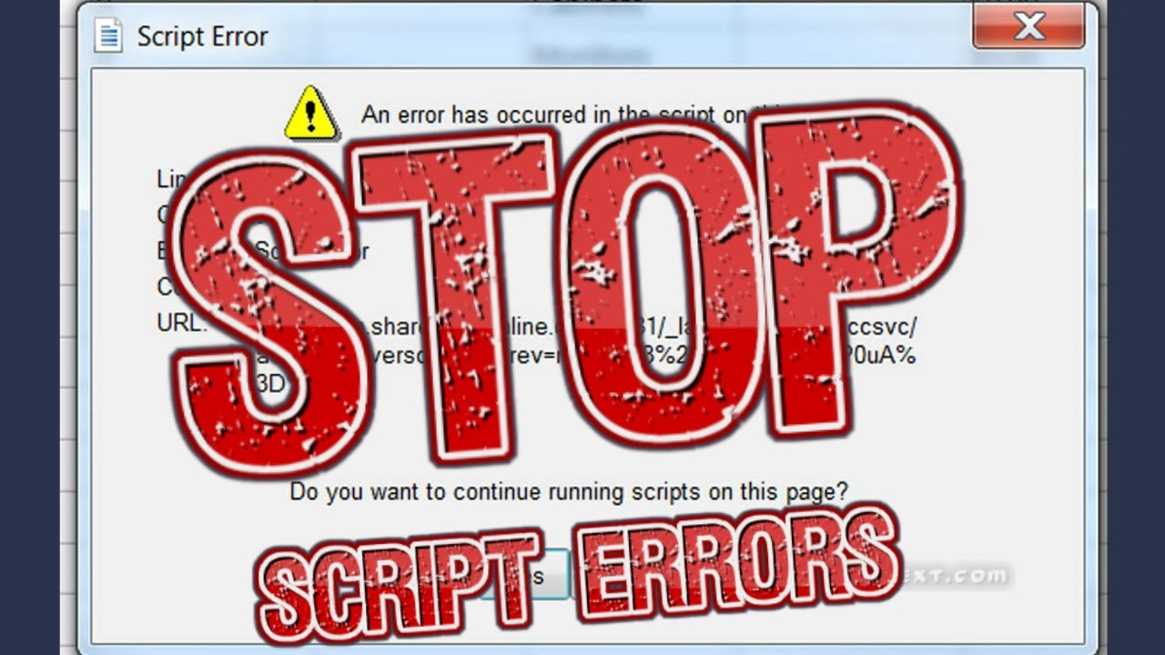 How to stop script errors in Internet Explorer   Free Tech Support ...