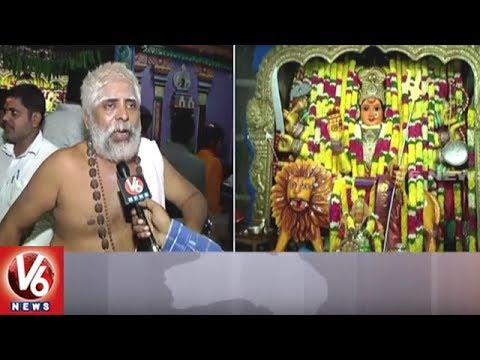 Devotees Throng Warangal Bhadrakali Temple | Devi Sharan Navaratri | V6 News