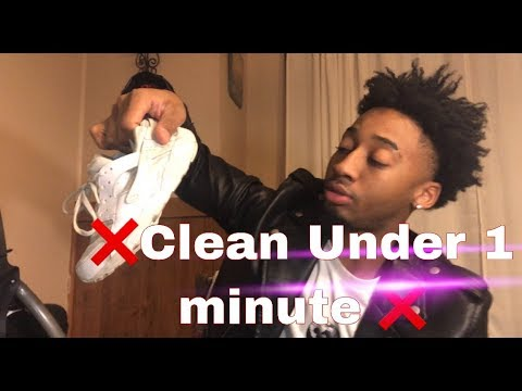 how to clean Nike white huaraches Under 1 minute @Q_iLL