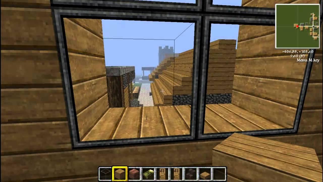 Minecraft Tutorial 3 Haus Mehrstockig Bauen Balkon Youtube