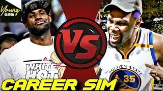 SIMULATING LEBRON JAMES VS. KEVIN DURANT'S NBA CAREERS ON NBA 2K18!! #Careersimvs