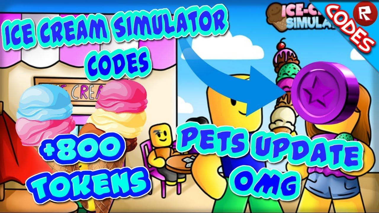 Brand New Codes Pet Update Ice Cream Simulator Roblox