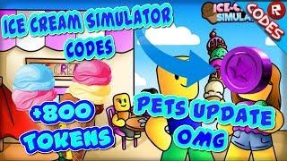 🍦 Brand New Codes 🍨 Pet Update 🐶 Ice Cream Simulator 🎃 (ROBLOX)