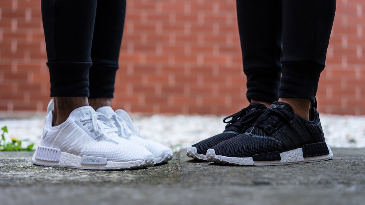 brand new d633e f1730 Adidas NMD Monochrome Mesh Pack On Feet Review