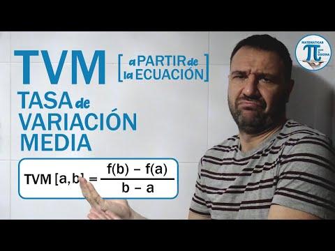 Cómo calcular la TASA de VARIACIÓN MEDIA (TVM) a partir de la ECUACIÓN de una función 💪