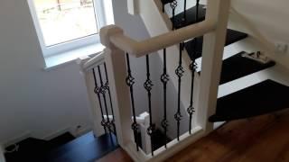 видео Лестницы из ясеня (бука, лиственницы, дуба): цена и фото