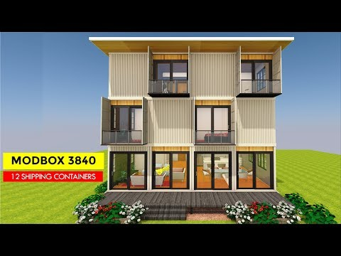 Luxury Container House Design with Floor plans | Modbox 3840