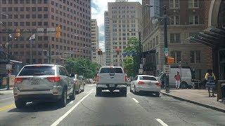 Driving Downtown - Atlanta Georgia USA
