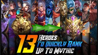 13 Heroes to Quickly Rank up to Mythic in Season 12 Solo | Mobile legends thumbnail