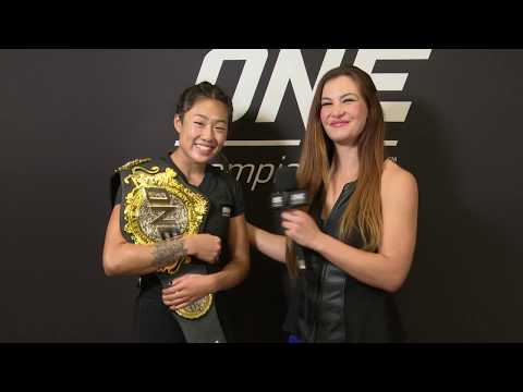 Backstage With Angela Lee & Miesha Tate | ONE: CENTURY Interview