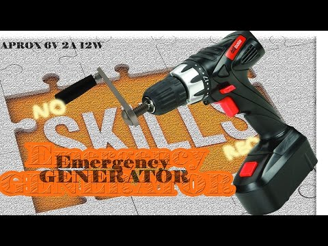 How to make free Emergency generator from a cordless drill driver