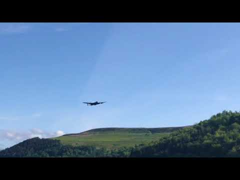 Lancaster Bomber Over Derwent Dam May 17th 2018