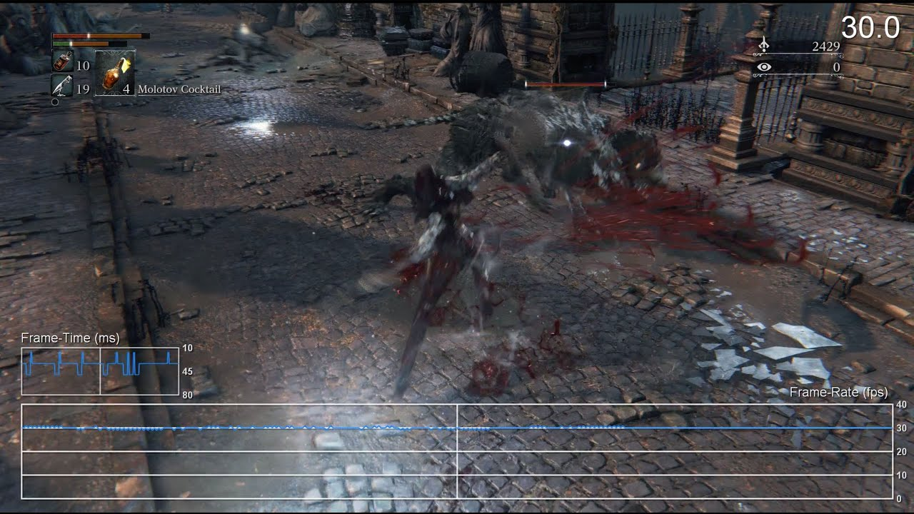 Bloodborne PS4 Gameplay Frame-Rate Test - YouTube