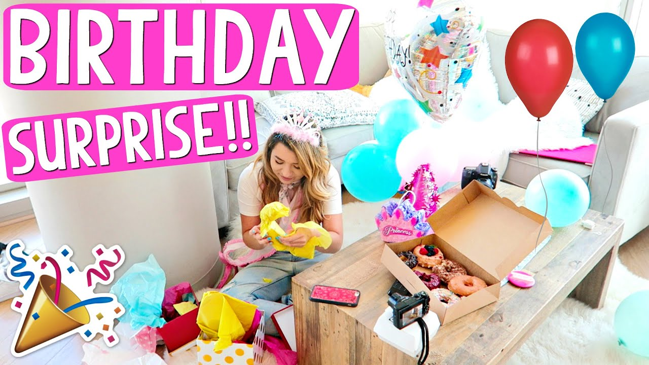 mia's huge birthday surprise!!!! - youtube