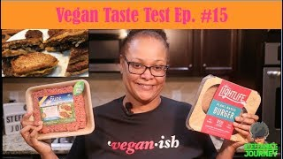 Trying Pure Farmland & LightLife Burger Patty Meat || Vegan Taste Test Ep. 15 || Steffanie's Journey