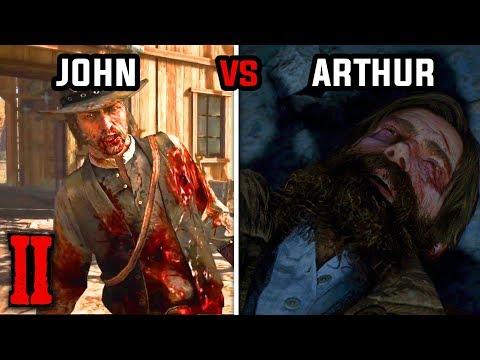 John Marston's Death vs Arthur Morgan's Death - Red Dead Redemption 1 and 2