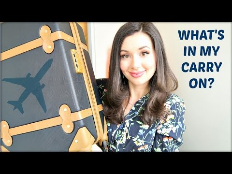 WHAT'S IN MY CARRY ON? | CALIFORNIA WEDDING WEEKEND