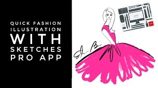 Apps for Fashion Illustrators Draw a Quick Fashion Illustration with Sketches Pro App