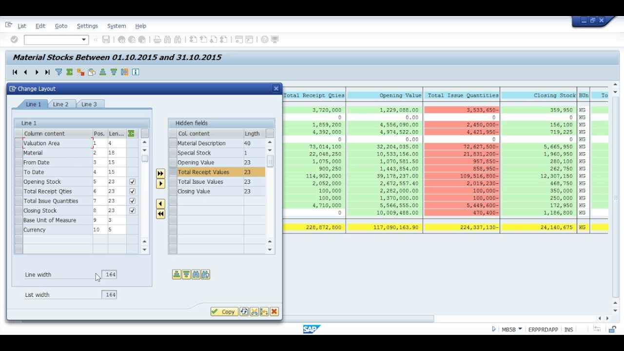 SAP Stock with Value report in SAP HANA solution