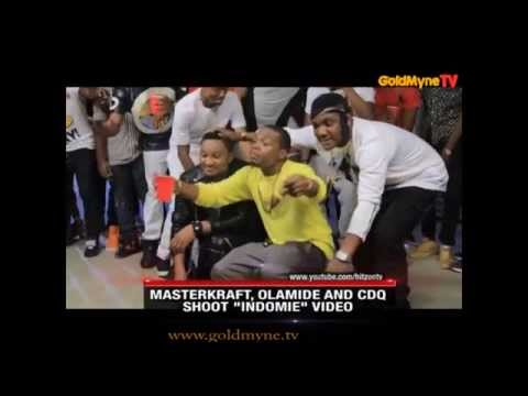 GOLDMYNETV - MASTERKRAFT, OLAMIDE AND CDQ SHOOT INDOMIE VIDEO