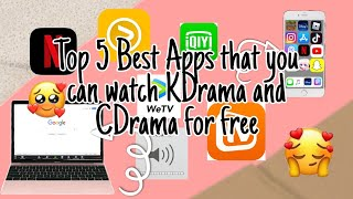 Top 5 Best Apps that you can watch KDrama and CDrama for Free  #KDrama #CDrama