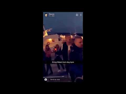 Erling Haaland Got Kicked Out Of Norwegian Night Club Youtube