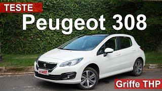 Peugeot 308 Griffe THP Flex 2016 oferece espaço e muitos itens de série