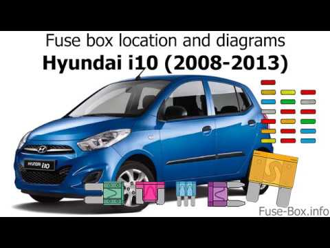 fuse box location and diagrams: hyundai i10 (2008-2013)