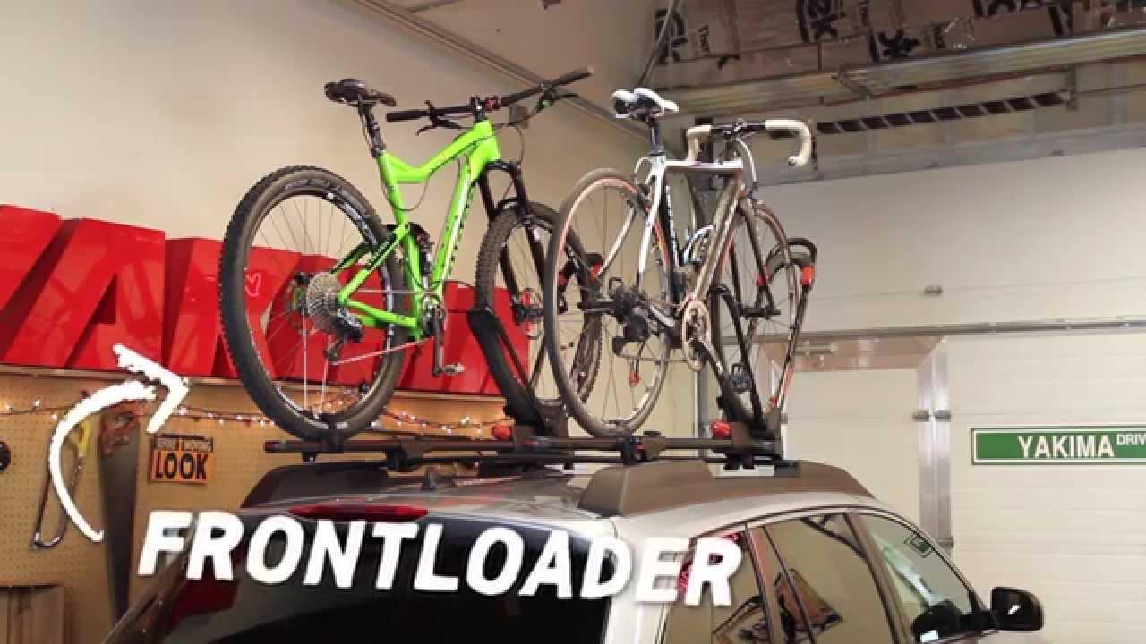 yakima frontloader upright bike mount product tour installation