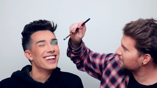 Giving James Charles a Makeover Using His Own Palette