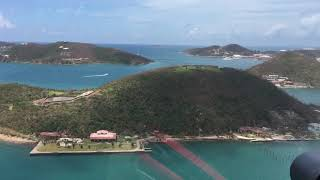 9/10/17 Aerial Footage Water Island Tropical Shipping Area St Thomas USVI after Hurricane Irma