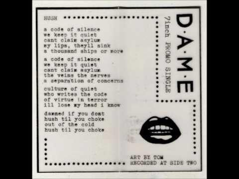 dame   2016   7 inch promo single tape boston,ma