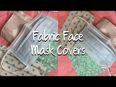 DIY! NO SEW Fabric Face Mask Covers!!!! Yay🙏🏾😁