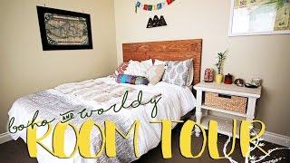 ROOM TOUR | Boho & World Travel Inspired