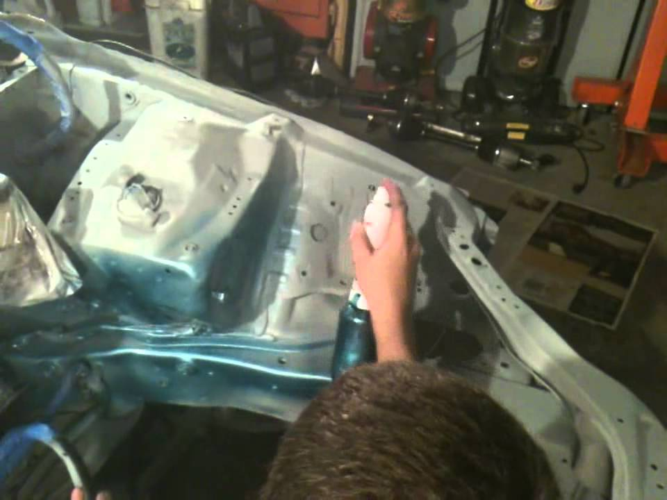My Engine bay wire tuck and full paint job - YouTube