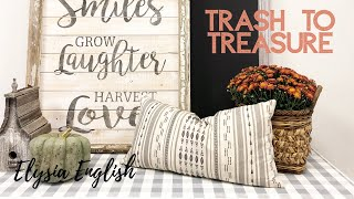 Trash To Treasure | Farmhouse Fall Decor | Up-cycle | Buffalo Plaid | Dump Haul