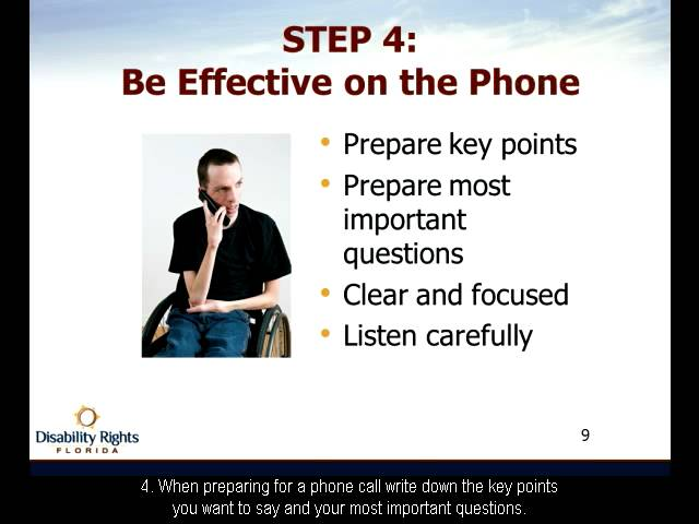 Ten Steps To Effective Self-Advocacy