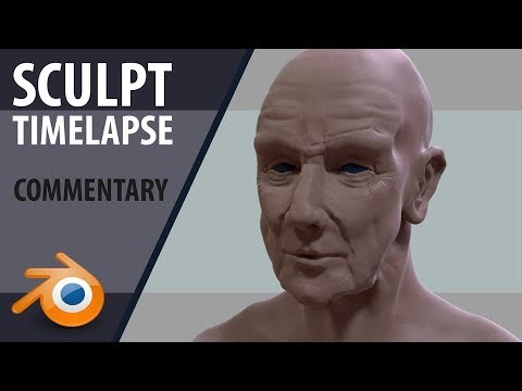 Sculpting Blender | Timelapse + commentary | Old Man