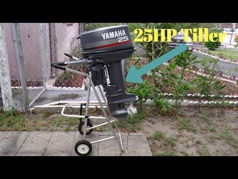 1996 yamaha 25hp shortshaft tiller outboard motor youtube for Yamaha outboard parts house