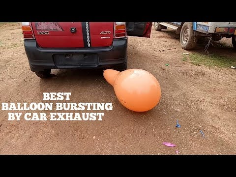 balloons-popping-sound-effect-video-on-youtube-for-children's/kids-by-car-exhaust-through-silencer