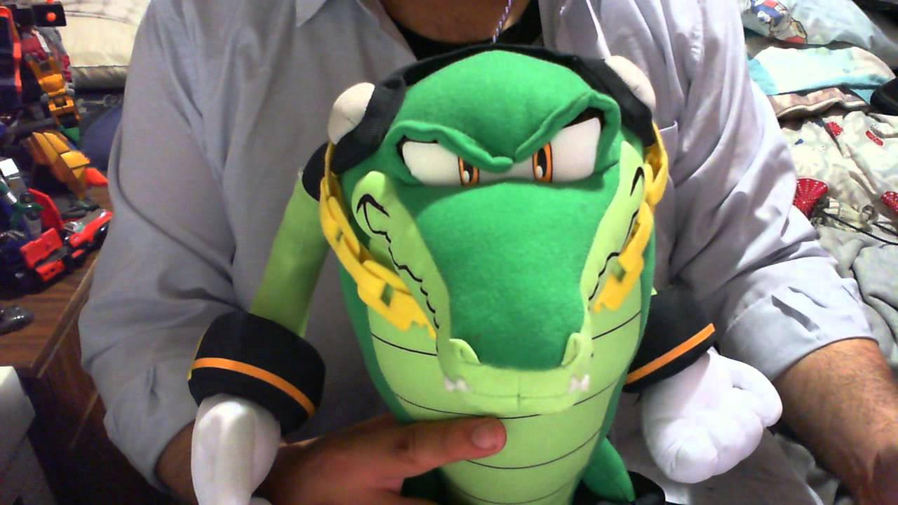 Sonic The Hedgehog Vector the Crocodile 8-Inch Plush