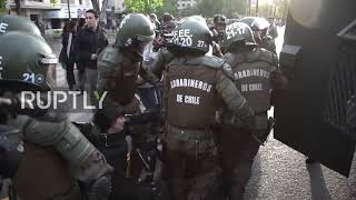 Chile: Protesters clash with police at student rally