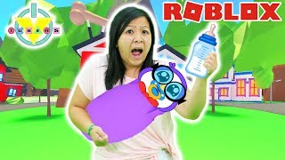 RYAN'S MOMMY IS MY MOM IN ROBLOX ! Let's Play Adopt Me with Peck