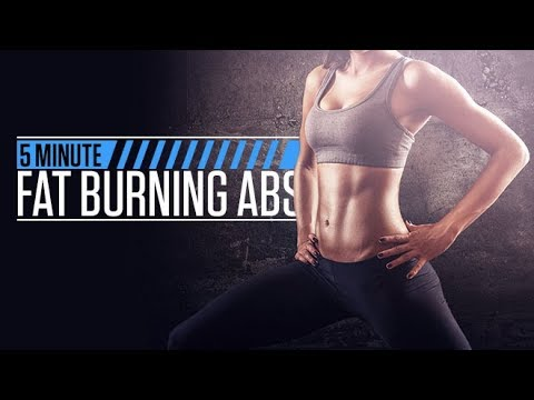 5 Minute Fat Burning Abs (GUARANTEED BURN!!)