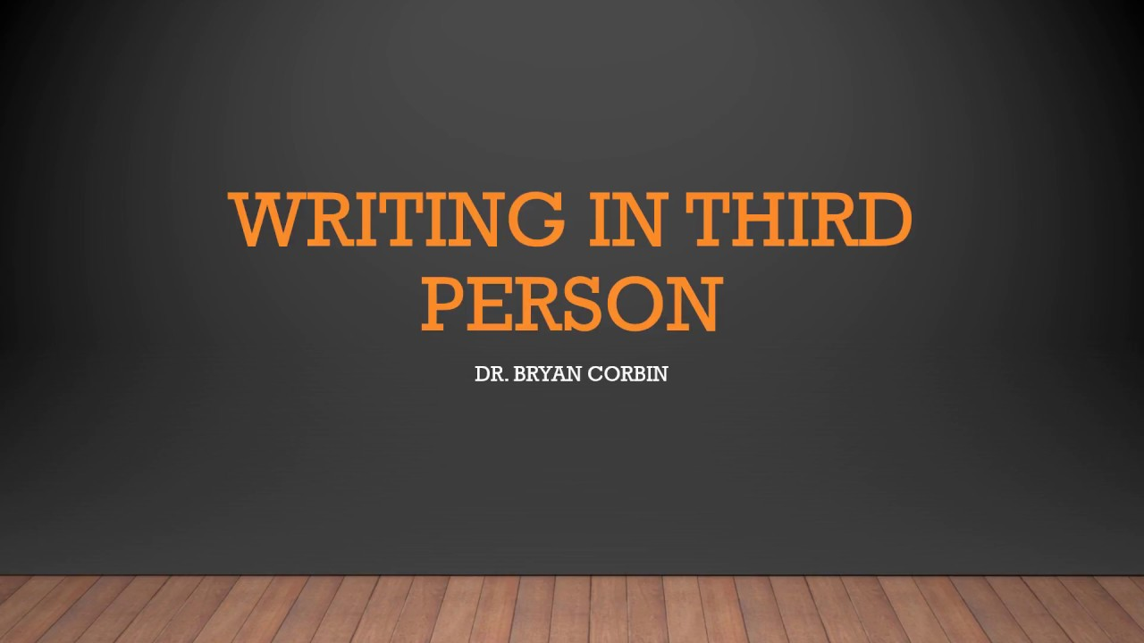 Download How to Write in Third Person