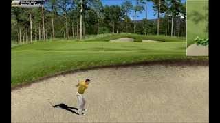 Black Rose Valley Course, Hole 17, Par 5, Bunker shot - Links 2003 Golf PC Game