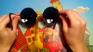 Винтажные солнечные очки. Чёрные стёкла в чёрной оправе. Обзор.
